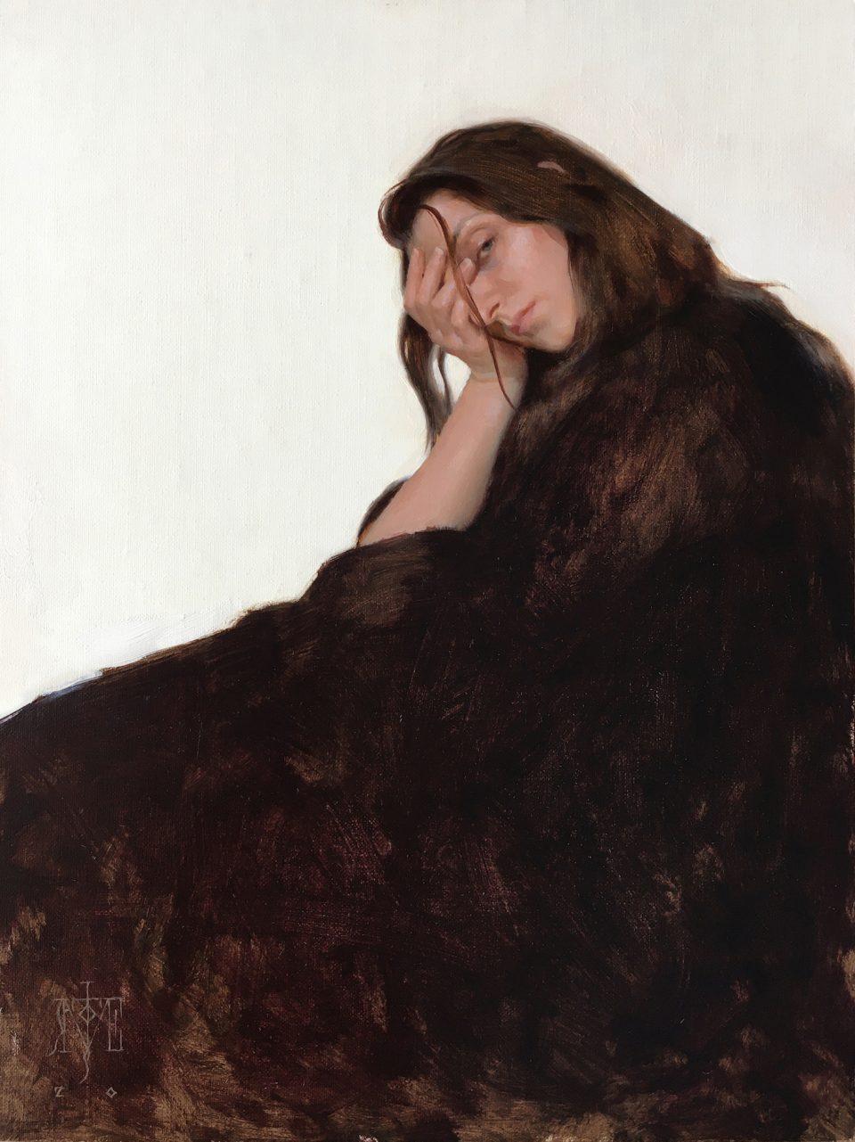 Girl in a Black Dress - Jose Lopez Vergara